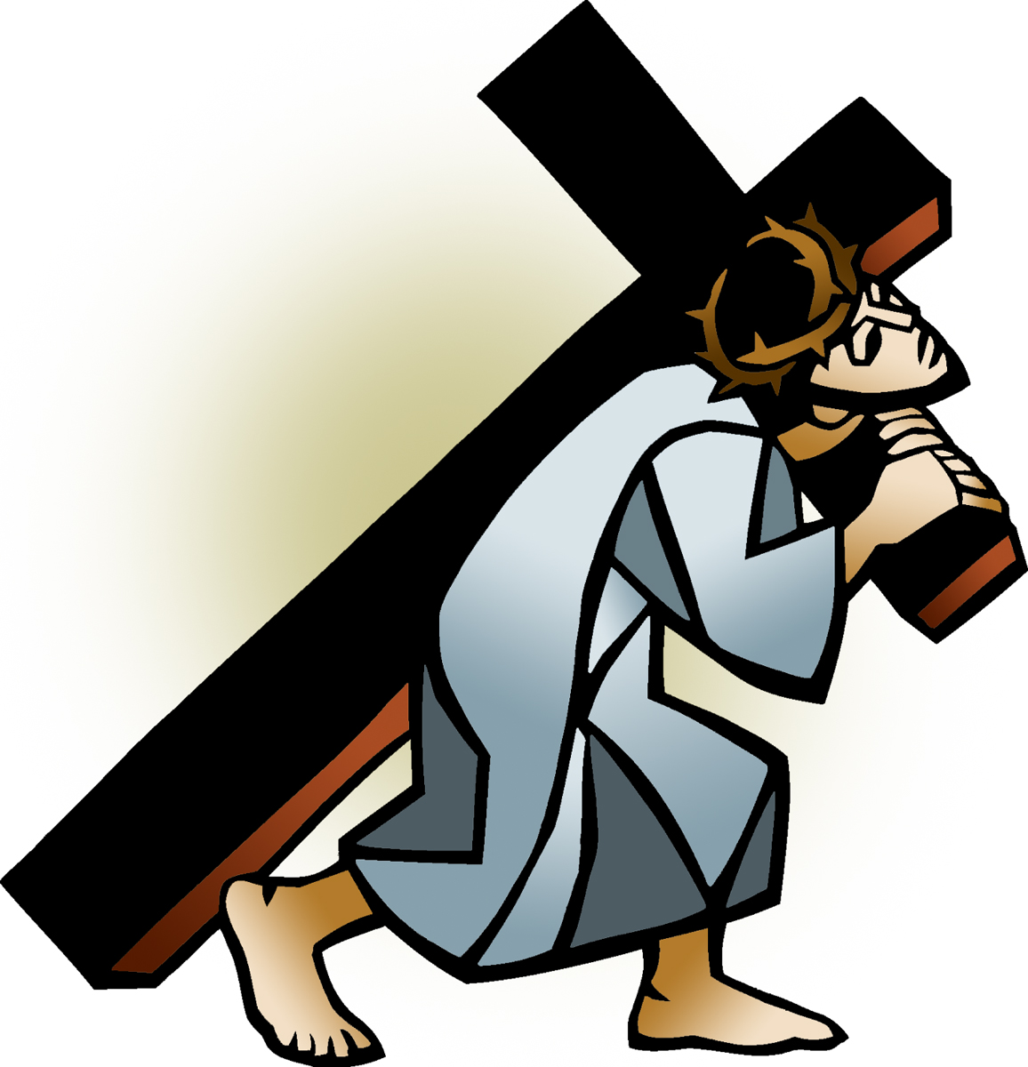 free clip art jesus carrying cross - photo #6